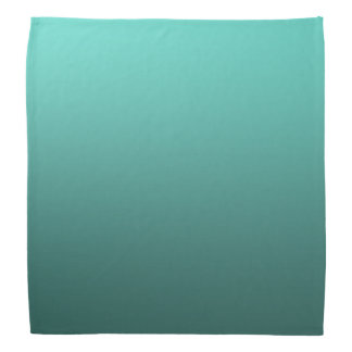 Calm One Color Gradient Teal Green Bandana