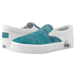 Calm Sea Custom Zipz Slip On Shoes,  Men & Women Printed Shoes
