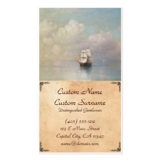 Calm Seas Ivan Aivazovsky seascape waterscape sea Pack Of Standard Business Cards