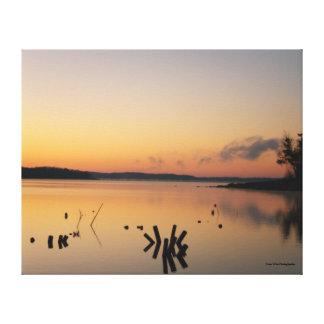 Calm Sunrise on the Lake Canvas Print