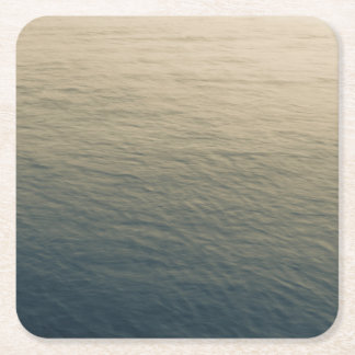 Calm Water At Twilight Square Paper Coaster