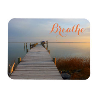 Calm Waters (Dock at Sunrise) Magnet