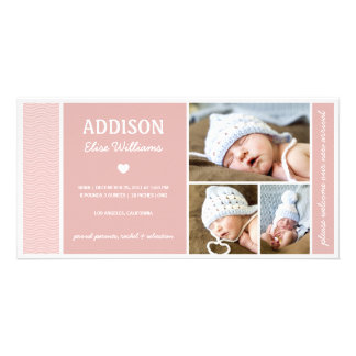 CALM WAVES | BABY GIRL BIRTH ANNOUNCEMENT PICTURE CARD