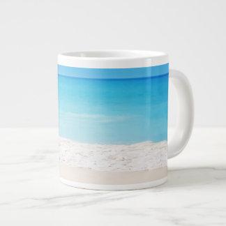 Calming beach scene jumbo-sized mug