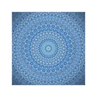 Calming Blue Mandala Canvas Print