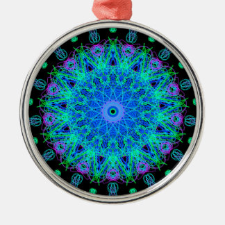 Calming Water Mandala Design Metal Ornament
