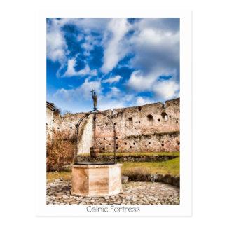 Calnic Peasant Fortress Postcard