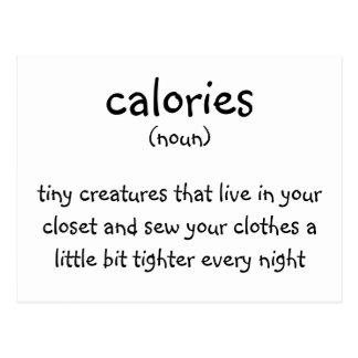 calories postcard