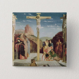 Calvary, after a painting by Andrea Mantegna 15 Cm Square Badge