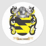 Calvert Coat of Arms (Family Crest) Round Sticker