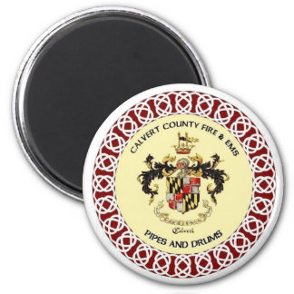 Calvert County Pipes and Drums Band Seal Magnet