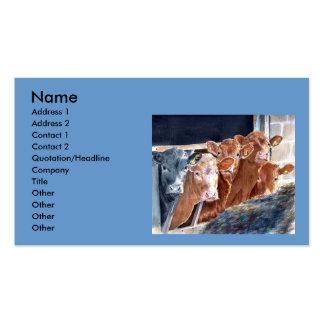 Calves at Brunch Business Cards