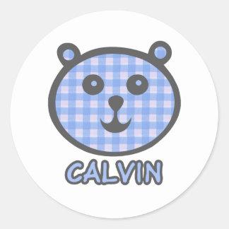 Calvin Blue Bear Stickers