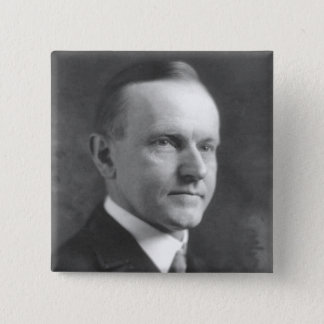 Calvin Coolidge 15 Cm Square Badge