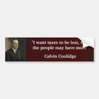 Calvin Coolidge Bumper Sticker