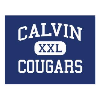 Calvin - Cougars - High School - Calvin Louisiana Postcard