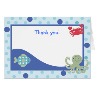 Calypso Under the Sea Folded Thank you notes