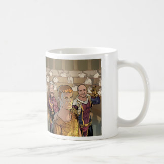Cam & Ray and Auggie in the Senate Coffee Mug