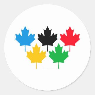 Camada Maple Leaf Round Sticker