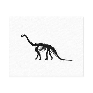 camarasaurus skeleton canvas print