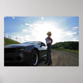 Camaro Girl Poster