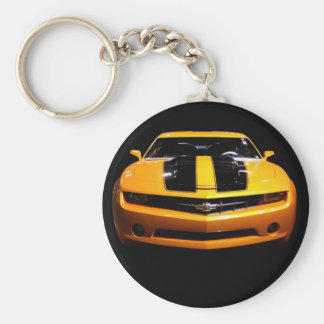 Camaro Photo on Black Keychain