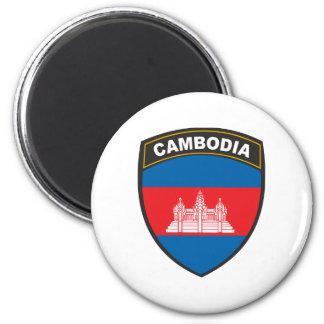 Cambodia 6 Cm Round Magnet