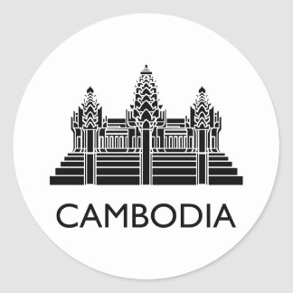 Cambodia Angkor Wat Classic Round Sticker