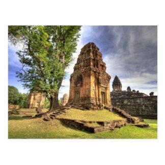 Cambodia, Angkor Wat. View of Bakong Temple. Postcard