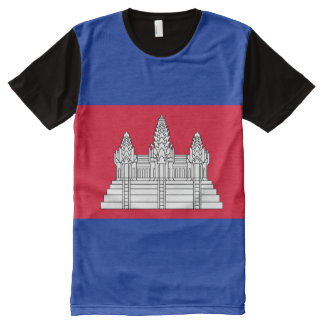 Cambodia Flag All-Over Print T-Shirt