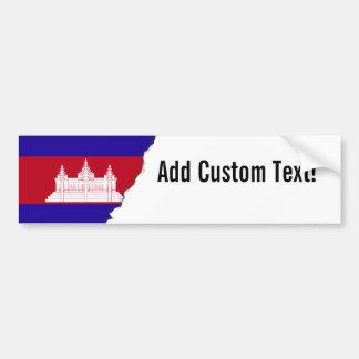 Cambodia Flag Bumper Sticker