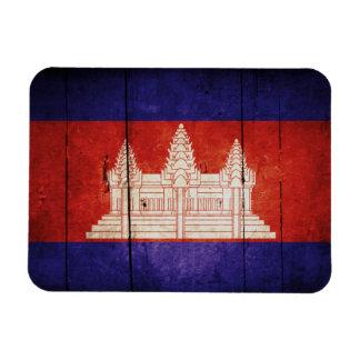 Cambodia Flag; Cambodian; Khmer Rectangular Photo Magnet