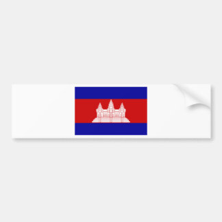 Cambodia Flag KH Bumper Sticker