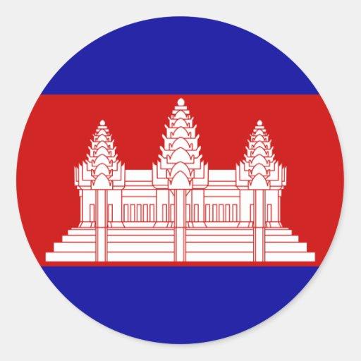 Cambodia Flag KH Sticker