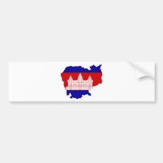 Cambodia Flag map KH Bumper Sticker