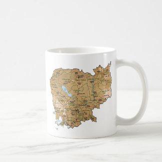 Cambodia Flag ~ Map Mug