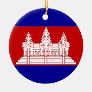 Cambodia Flag Ornament