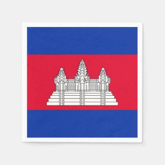 Cambodia Flag Paper Napkins