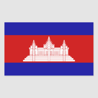 Cambodia Flag Rectangle Sticker
