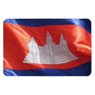 cambodia flag rectangular photo magnet