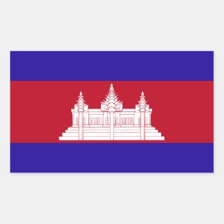Cambodia Flag Rectangular Sticker