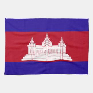 Cambodia Flag Tea Towel