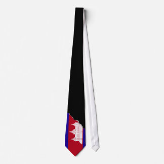 Cambodia Flag Tie