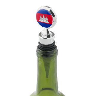 Cambodia Flag Wine Stopper