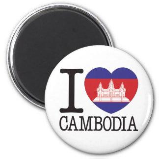 Cambodia Love v2 6 Cm Round Magnet