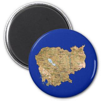 Cambodia Map Magnet