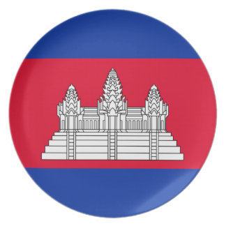 Cambodia National World Flag Dinner Plates