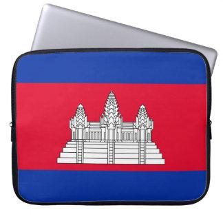 Cambodia National World Flag Laptop Sleeve