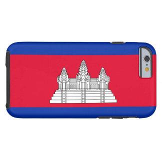 Cambodia National World Flag Tough iPhone 6 Case