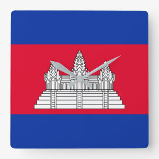 Cambodia National World Flag Wall Clocks